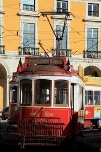 Lisbonne tramway Portugal ville