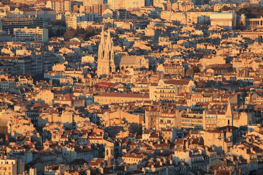 Marseille vue d'ensemble architecture aerien toit toiture