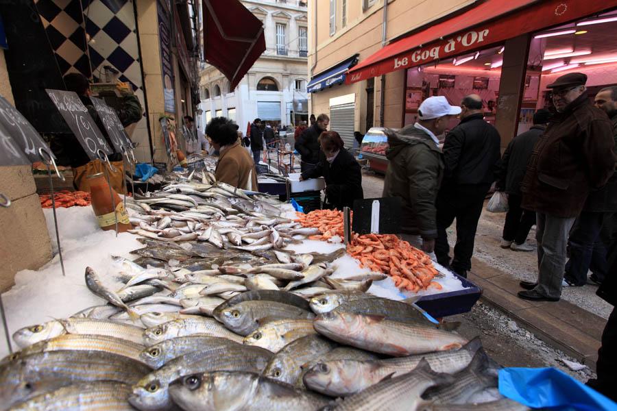 quartier de Noailles poisson poissonnerie marché ville