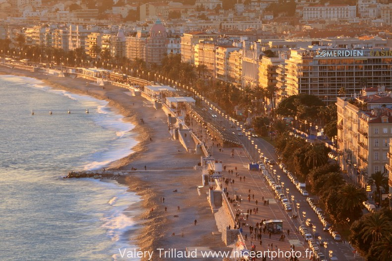 Promenade des Anglais Nice ville photo plage