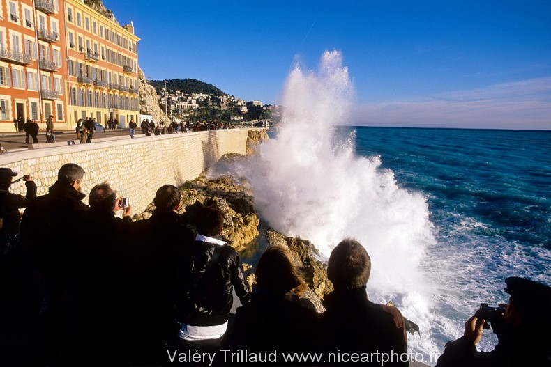 mer vague tempête Nice photo littoral Niçois