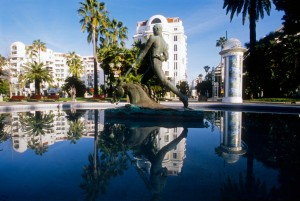 jardin square Cannes photographie Majestic hotel
