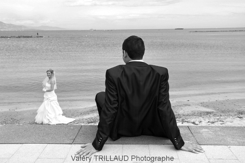 Photo mariage plage couple