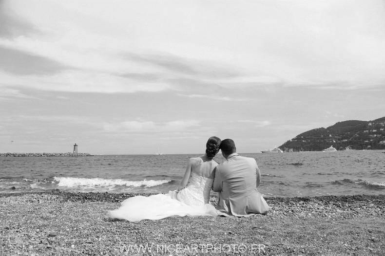 mariage plage mer photo