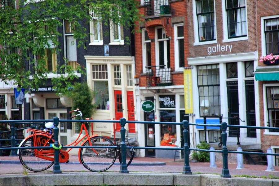 Les maisons colorées d'Amsterdam