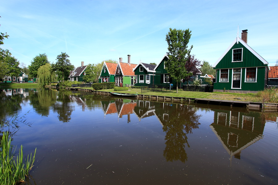 Village de Zaanse Schans au nord d'Amsterdam