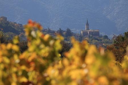Le village de Bonnieux Luberon dans les vignes