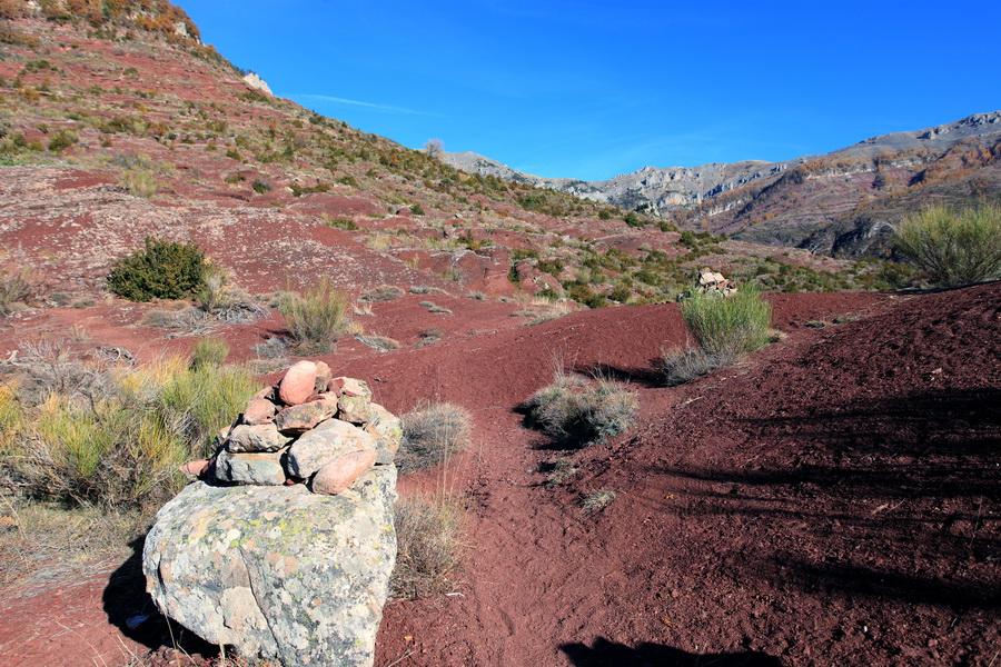 Le schiste rouge des gorges de Daluis