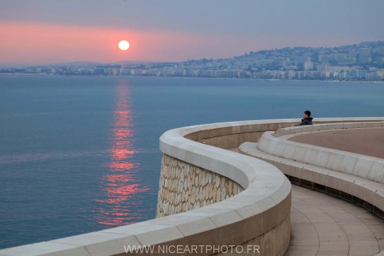 Nice Rauba Capeu photo coucher de soleil