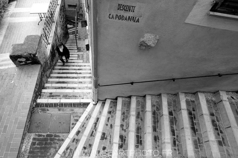 Vieux Menton escalier