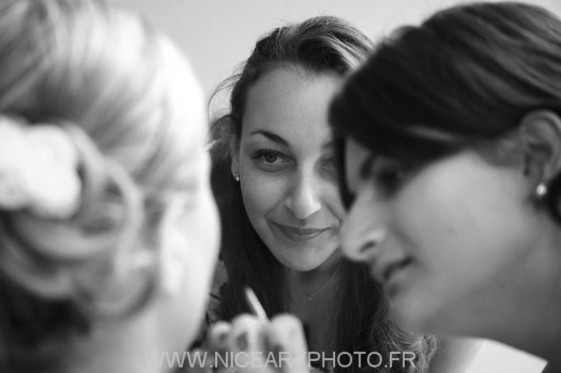 photographe noir et blanc mariage