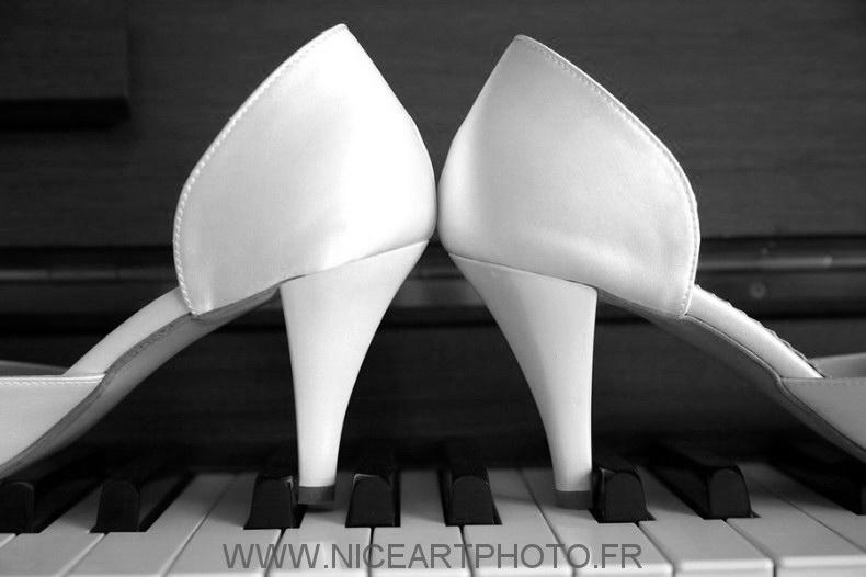 Photo mariage artistique noir et blanc