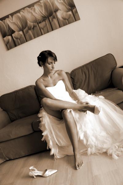 Photo mariage noir et blanc Nice