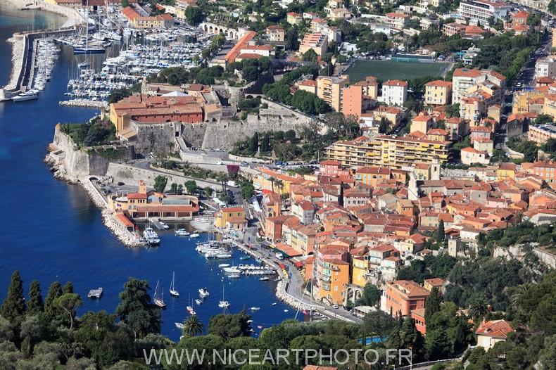 photo aérienne Villefranche sur mer
