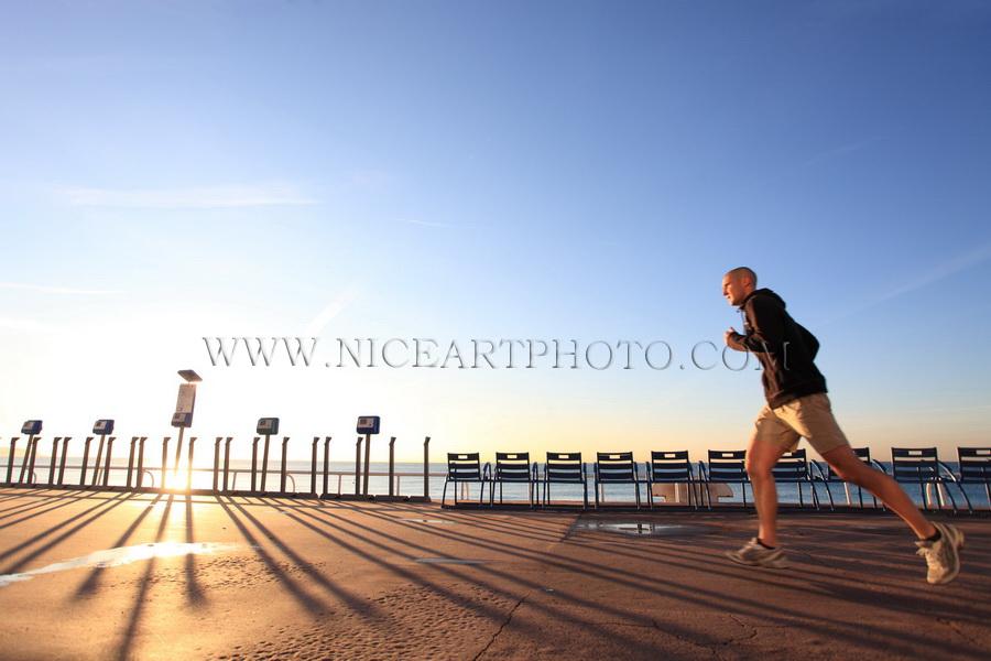 Nice, Promenade des Anglais, sport, footing,