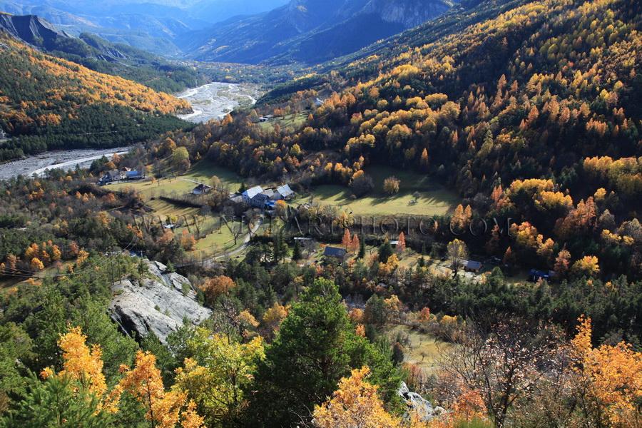 vallee du haut var paysage d'automne