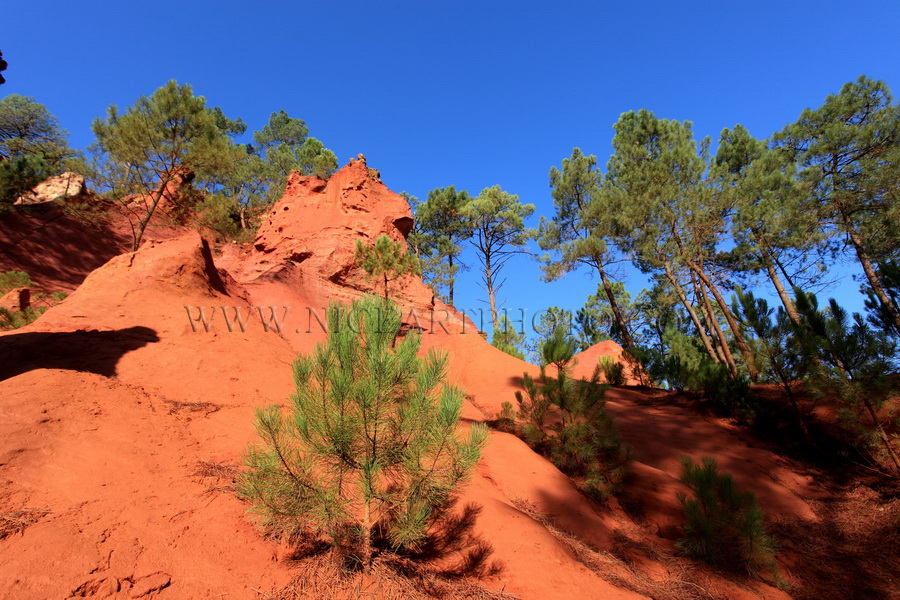 Carriere d'Ocre, Colorado Provencal, Roussillon,