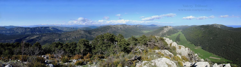 Mont Bauroux, prealpes Azur, Mont Bauroux, Parc regional