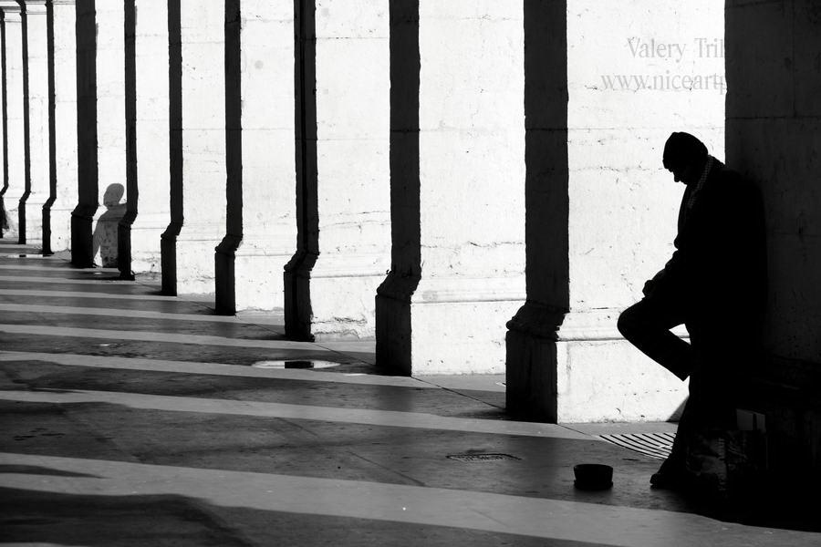 Mendicite rue à Nice