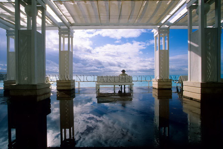 Pergola, Promenade des Anglais, Nice, photo d'art