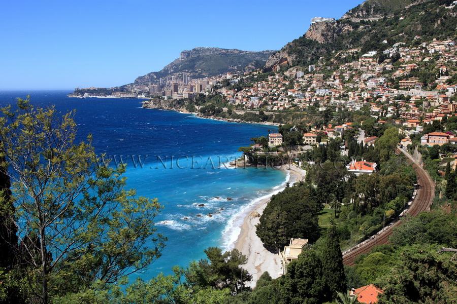 Roquebrune Cap Martin, Plage de la Buse, Alpes-MAritimes, Côte d'Azur