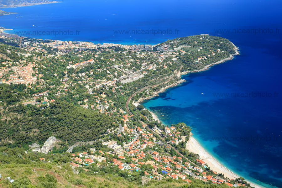 Roquebrune Cap-Martin dans son ensemble. Alpes-Maritimes
