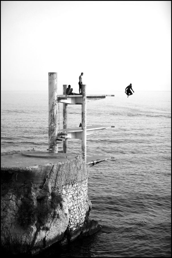 Le plongeoir de la réserve, Nice// V. Trillaud/www.niceartphoto.fr