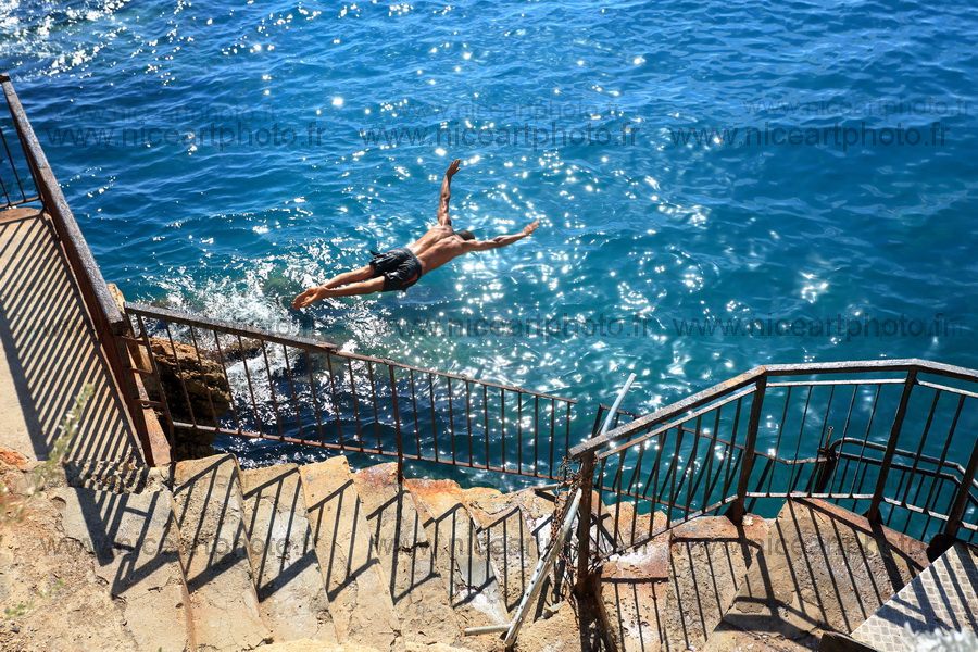 Le grand plongeon. Photographie d'art couleur