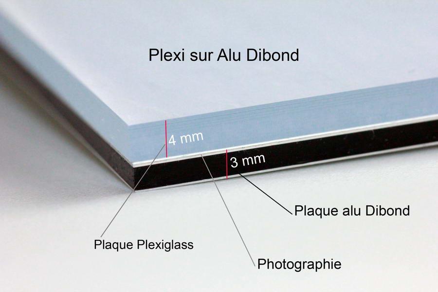 Photographie d'art sur Plexi et Alu Dibond