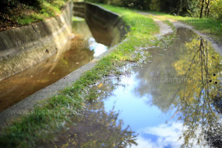 Canal de la Siagne en automne