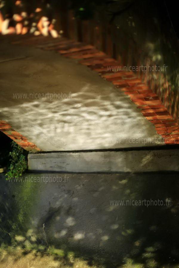 reflet de l'eau sous un pont