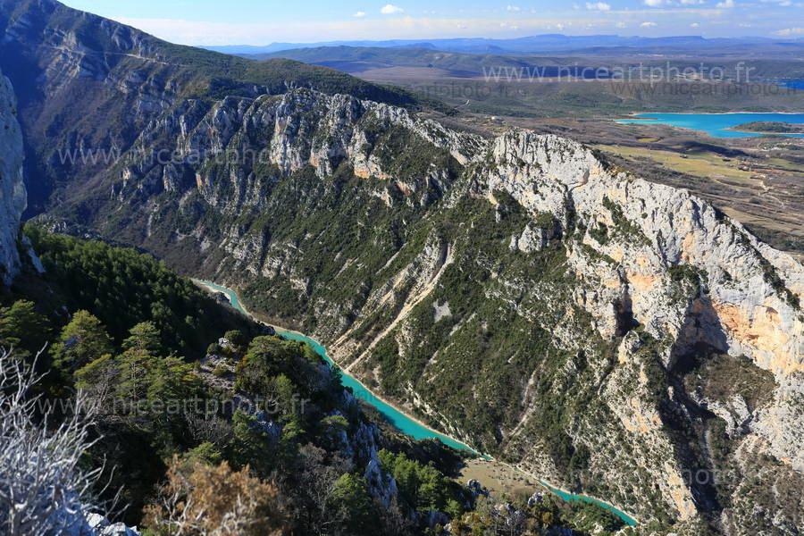 Vue aérienne sur les gorges du Verdon